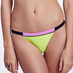 The Fille Women's Mosaic Multi-color /Low Rise/Black/Pink/Fluorescent Green Bikini Australia Triangle Panties