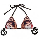 Women's Bikinis Australia Wireless/Padded Bras Nylon/Spandex Animal Print