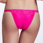 The Fille Women Sexy Red Lacy Color Block Low Rise Rose Red Triangle Bikini Australia Panties