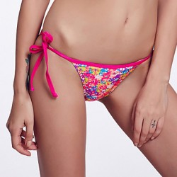 The Fille Women's Adjustable Stripped /Retro Printed Bikini Australia Triangle Panties