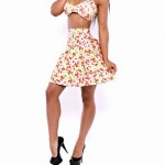 Women Halter Tankinis , High Rise Floral Wireless Padless Bra Others Multi Color