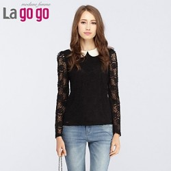 Women's Black T-shirt Long Sleeve