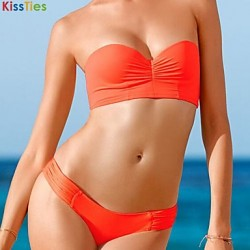 KissTies®Women's Back lacing Retro Sexy Bikini Australia Swimwear