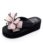 Summer Bowknot Slippers Women Non Slip Beach Shoes Holiday Slippers