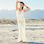 Hollow Out Knitted Vest Beach Holiday Long Dress Hollow Out Bikini Beach Cover Up Swimwear