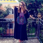 Embroidered Sun Protective Beach Wear Long Robe Bikini Beach Cover Up Women Loose Plus Size Holiday One Piece Dress