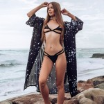 Five Pointed Star Cardigan Beach Sun Protective Clothing Bikini Beach Cover Up Swimwear Cardigan Women