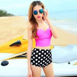 Women's Fashion Sexy Dot Push Up High waist Bikini Australia Set Swimwear Australia Swimsuit Australia Beachwear