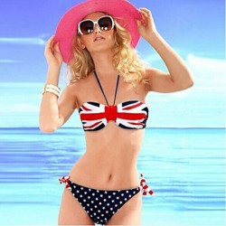 Women's Push-up/Wireless High Rise/Dot Bandeau Bikinis Australia (Polyester)
