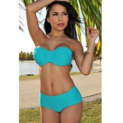 Women's Ruffled Accent Push-Up Bikini