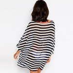 New Sexy Chiffon Striped Beachwear 2019 3/4 Sleeve Women Beachwear Sexy Chiffon Women Cover up New Beach