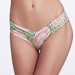 The Fille Women's Folded deep V Shaped/Unique Wrap Front/Solid Paisley Floral Bottoms of Bikinis Australia