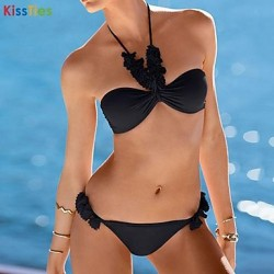 KissTies®Women's Sexy Pretty Handmade Applique Bikini Australia Swimwear Australia Set