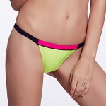 The Fille Women's Mosaic Multi-color /Low Rise/Black/Red/Fluorescent Green Bikini Australia Triangle Panties