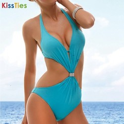 KissTies®Women's Fashion Sexy One-Piece Push up Swimwear Australia Bikini Australia Set