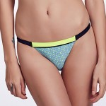 The Fille Women's Mosaic Multi-color /Low Rise/Black/Fluorescent Green Bikini Australia Triangle Panties