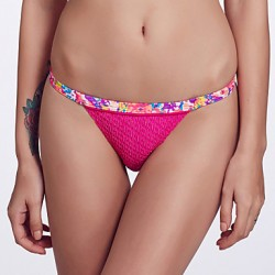 The Fille Women's Mosaic Multi-color /Low Rise/Floral Printed /Rose Red Bikini Australia Triangle Panties
