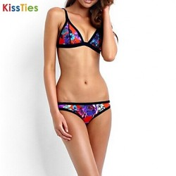 KissTies®Women New Sexy Print Push-up Halter Bikinis Australia