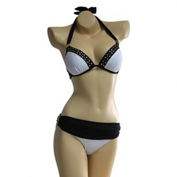 Women's White Rivet Bikinis Australia Set