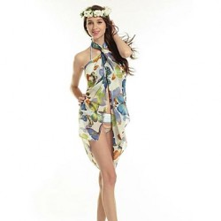 Women's Halter Cover-Ups , Floral Chiffon Animal Print
