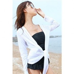 Women's Cover-Ups , Solid Cotton White