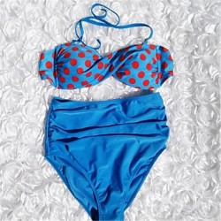Sexy Women Bikini Australia Swimwear Australia Hot Swimsuit Australia with Polka Dots High-waisted Panty