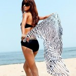 Women's Sexy Wild Zebra Beach Towel Yarn Batches