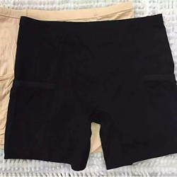 Women's Modal Fabrics With Safety Pants Pocket Without Border Three minutes Of Pants
