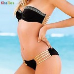 KissTies®Women's Fashion Push Up Shining Crystals Sexy Beach Swimwear Australia Bikini Australia Set