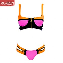 Muairen® Women'S Hot Zipper Women Bikini Australia SwimSuit Swimwear Australia Swim Mixed ColorS