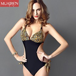 Muairen® Women'S The New Piece SwimSuit Sexy Leopard ConServative SwimSuit