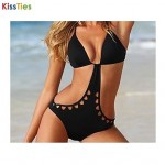 KissTies®Women's Hollow Out Show Thin Conjoined Sexy Bikini Australia Swimwear