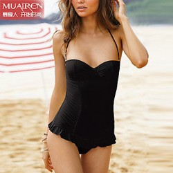 Muairen® Women'S Super Sexy Swimwear Australia Solid Color Piece SwimSuit