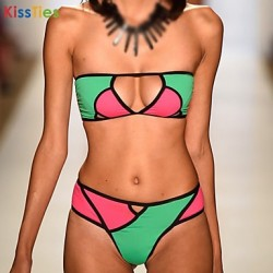KissTies® Women's Fashion New Sexy Contrast Color Bikini