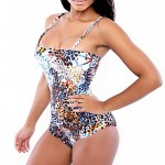Women's Straped One-pieces , Floral Wireless/Padless Bra Others Multi-color