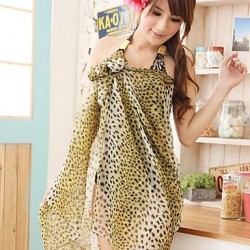 Women's Cover-Ups , Animal Chiffon Animal Print