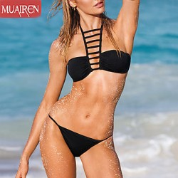 Muairen® Women'S The New Solid Color Sexy Bikini Australia Swimwear