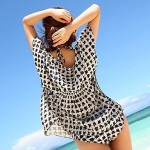 Women's Cover-Ups , Geometric Cotton Blends/Viscose Multi-color