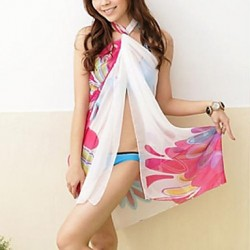 Women's Halter Cover-Ups , Floral Chiffon Multi-color
