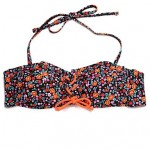 Women Bandeau Bikinis Australia Wireless Padded Bras Nylon Spandex Orange