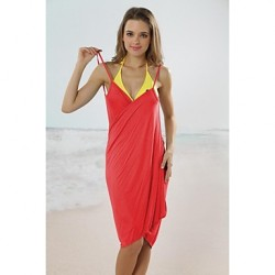 Women's Fashion Sexy Solid Deep-v Sun Prevention Swimwear Australia Swimsuit Australia Beachdress Bikini Australia Cover-up