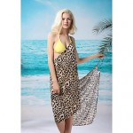 Women's Fashion Sexy Coffee Leopard Deep-v Swimwear Australia Swimsuit Australia Beachdress Bikini Australia Cover-up