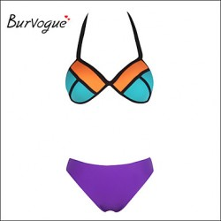 Burvogue Women's Sexy Neoprene Bikini Australia Swimsuit Australia Structured Bright Wet Swimwear Australia Suit