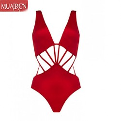 Muairen® Women'S Solid Triangle Piece SwimSuit Beach Sexy Pierced Belly Cover WaS Thin SwimSuit