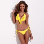Women's Bikinis Australia Wireless/Padded Bras Nylon Yellow