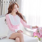 Pink Doll®Women's Round Neck Casual Short Sleeve Shirt