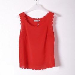 Women's Sleeveless Chiffon Vest