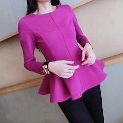Women's Blue/Red/Black Blouse Long Sleeve