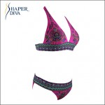 Shaperdiva Women's Push Up Flower Print Brazilian Bikinis Australia Set Swimwear