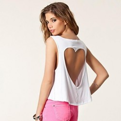 Women's White T-shirt Sleeveless